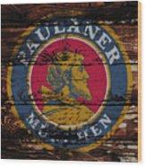 Paulaner Beer Sign 1a Wood Print