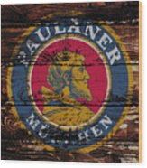 Paulaner Beer Sign  Wood Print