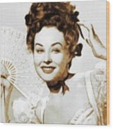 Paulette Goddard, Hollywood Legend Wood Print