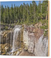 Paulina Creek Falls From The Top Wood Print
