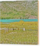 Paulina Lake Formed After Newberry Crater Erupted 1200 Years Ago In Oregon Wood Print