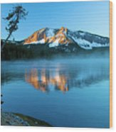 Paulina Peak In Paulina Lake Wood Print