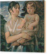 Pauline Runge With Her Two Year Old Son Wood Print