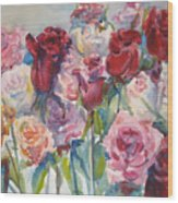 Paul's Roses II Wood Print