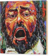 Pavarotti Wood Print