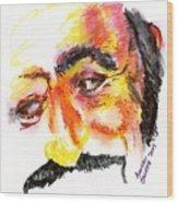 Pavarotti Sketch No. 1 Wood Print