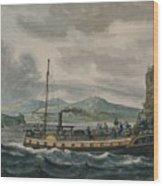 Pavel Petrovich Svinin, 1787 -1839, Steamboat Travel On The Hudson River Wood Print