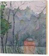 Pavilion At River's Edge China Wood Print