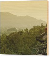 Pavilion Rooftops And Lush Foliage As Seen From The Summer Palace Wood Print