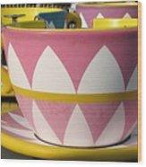 Pavilion Tea Cups Wood Print