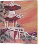Pavillion In China Wood Print