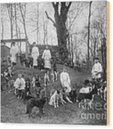Pavlovs Dogs With Their Keepers, 1904 Wood Print