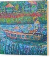 Pawleys Island Fisherman Wood Print