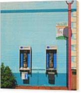 Pay Phones Wood Print