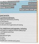 Payan Pool Service Infographics Wood Print