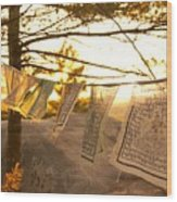 Prayer Flags Wood Print