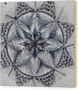 Paynes Gray Mandala2 Wood Print