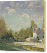 Paysage Wood Print by Alfred Sisley