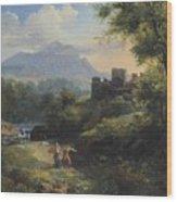 Paysage Arcadien Wood Print