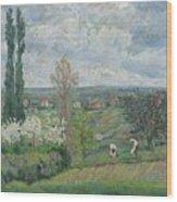 Paysage D'ile De France By Armand Guillaumin Wood Print