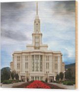 Payson Temple #3 Wood Print