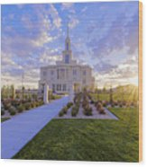 Payson Temple I Wood Print