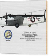 Pb4y-1 Liberator Profile Wood Print