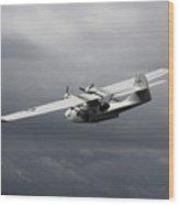 Pby Catalina Vintage Flying Boat Wood Print