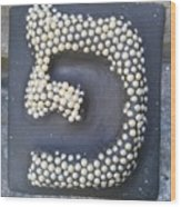 Pe, Pearls Wood Print