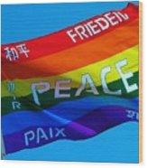 Peace - Paz - Paix Wood Print
