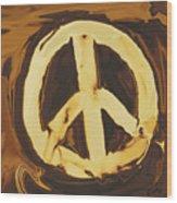 Peace 2 Wood Print
