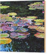 Peace Among The Lilies Wood Print