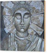 Peace Buddha Wood Print