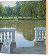 Peace By The Lake Wood Print