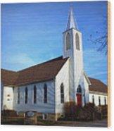 Peace Church Wood Print