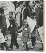 Peace Demonstration 1966 Wood Print