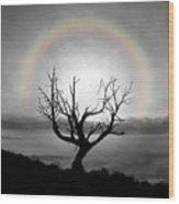 Peace Faith Hope Rainbow Wood Print