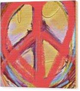 Peace Love  Art Wood Print