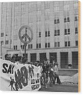 Peace March 1986 Wood Print