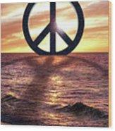 Peace On The Shoreline Wood Print
