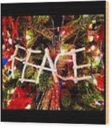 Peace Ornament Wood Print