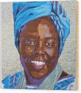 Peace Portrait Three Wangari Maathai Wood Print