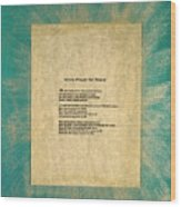 Peace Prayers - Hindu Prayer For Peace Wood Print