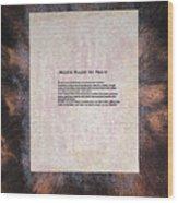 Peace Prayers - Muslim Prayer For Peace  Wood Print