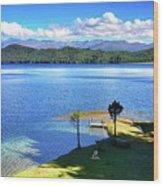 Peace Rara Lake Wood Print