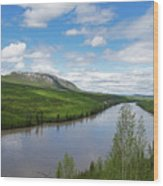 Peace River Wood Print