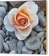 Peace Rocks Wood Print