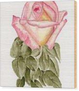 Peace Rosebud Wood Print