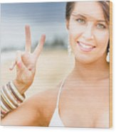 Peace Sign Wood Print