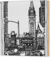 Peace Tower Parliament Hill Ottawa 1995 Wood Print